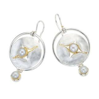 White Gold Over Silver Mother of Pearl Drop Earrings by Ever One|https://ak1.ostkcdn.com/images/products/13114821/P19845484.jpg?impolicy=medium