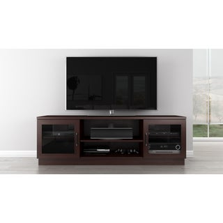 Furnitech Contemporary Cappuccino-finish 70-inch 3-shelf TV Stand Console
