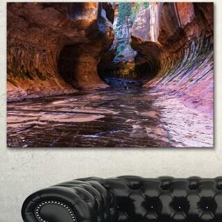 Designart 'Cave in Zion National Park Utah' Landscape Art Print Canvas