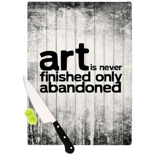 KESS InHouse KESS Original 'Art Never Finished' Cutting Board