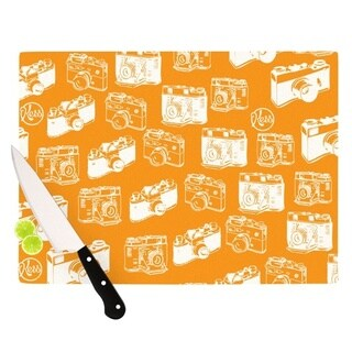 KESS InHouse KESS Original 'Camera Pattern' KESS Orange Cutting Board