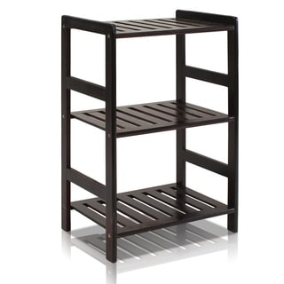 Furinno FNCJ-33011 Solid Pine Wood 3-tier Shelf