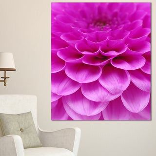 Designart 'Abstract Purple Flower and Petals' Modern Floral Canvas Wall Art