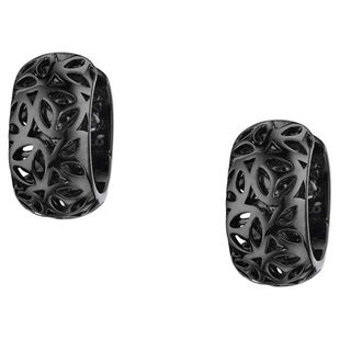 Di Modolo Sahara Black Rhodium-plated Stainless Steel Huggie Earrings