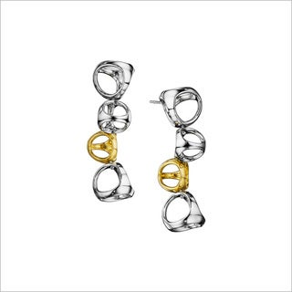 Di Modolo Women's Rhodium/18k Yellow Goldplated Stainless Steel Drop Earrings