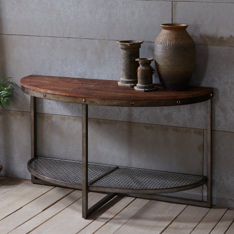 INK+IVY Sheridan Brown Console Table
