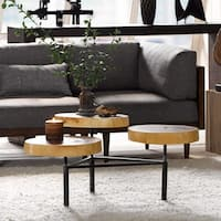 INK+IVY Arcadia Natural/ Black Coffee Table