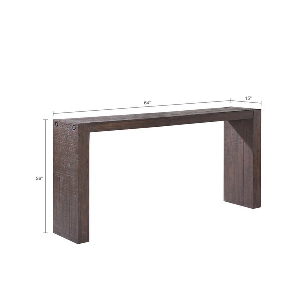 INK+IVY Monterey Brown Wooden Console Table