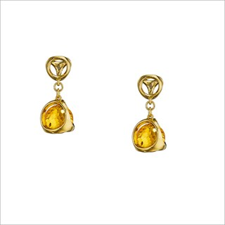 Di Modolo 18k Yellow Goldplated Stainless Steel Citrine Drop Earrings