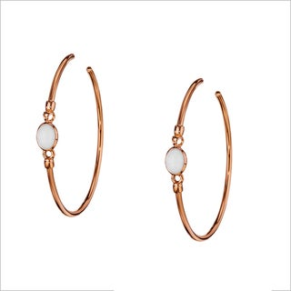 Di Modolo 18k Rose-Goldplated Stainless Steel White Agate Hoop Earrings
