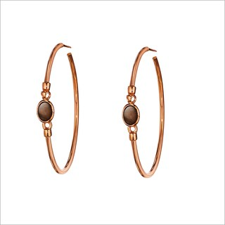 Di Modolo 18k Rose-Goldplated Stainless Steel Smoky Quartz Hoop Earrings