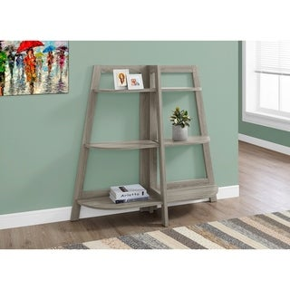 BOOKCASE - 48-inch DARK TAUPE ACCENT ETAGERE