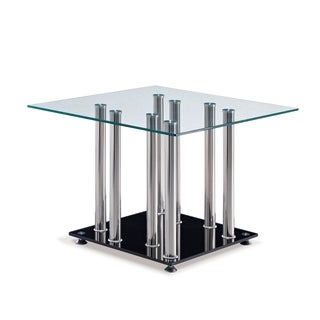 Global Furniture Clear/Chrome/Black End Table