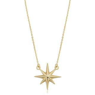 Fremada Italian 18k Yellow Gold North Star Necklace (18 inches)