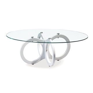 Global Furniture Glossy White Coffee Table
