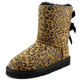 Ugg Australia Girl's 'Bailey Bow Leopard' Regular Tan Suede Boots