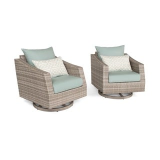 Cannes Set of 2 Motion Club Chairs in Spa Blue by RST Brands