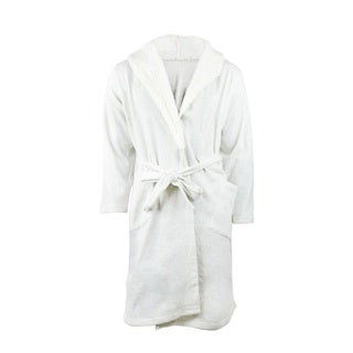 Ambriella Women's Off-white Cotton/Polyester Luxurious Bathrobe