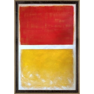Mark Rothko 'Untitled, 1952' Hand Painted Framed Oil Reproduction on Canvas