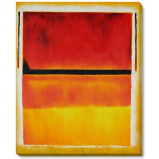 Mark Rothko 'Untitled (Violet, Black, Orange, Yellow on White and Red), 1949' Hand Painted Framed Oil Reproduction on Canvas
