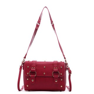 Pink Haley Danica Vintage-inspired Faux Leather Crossbody Handbag