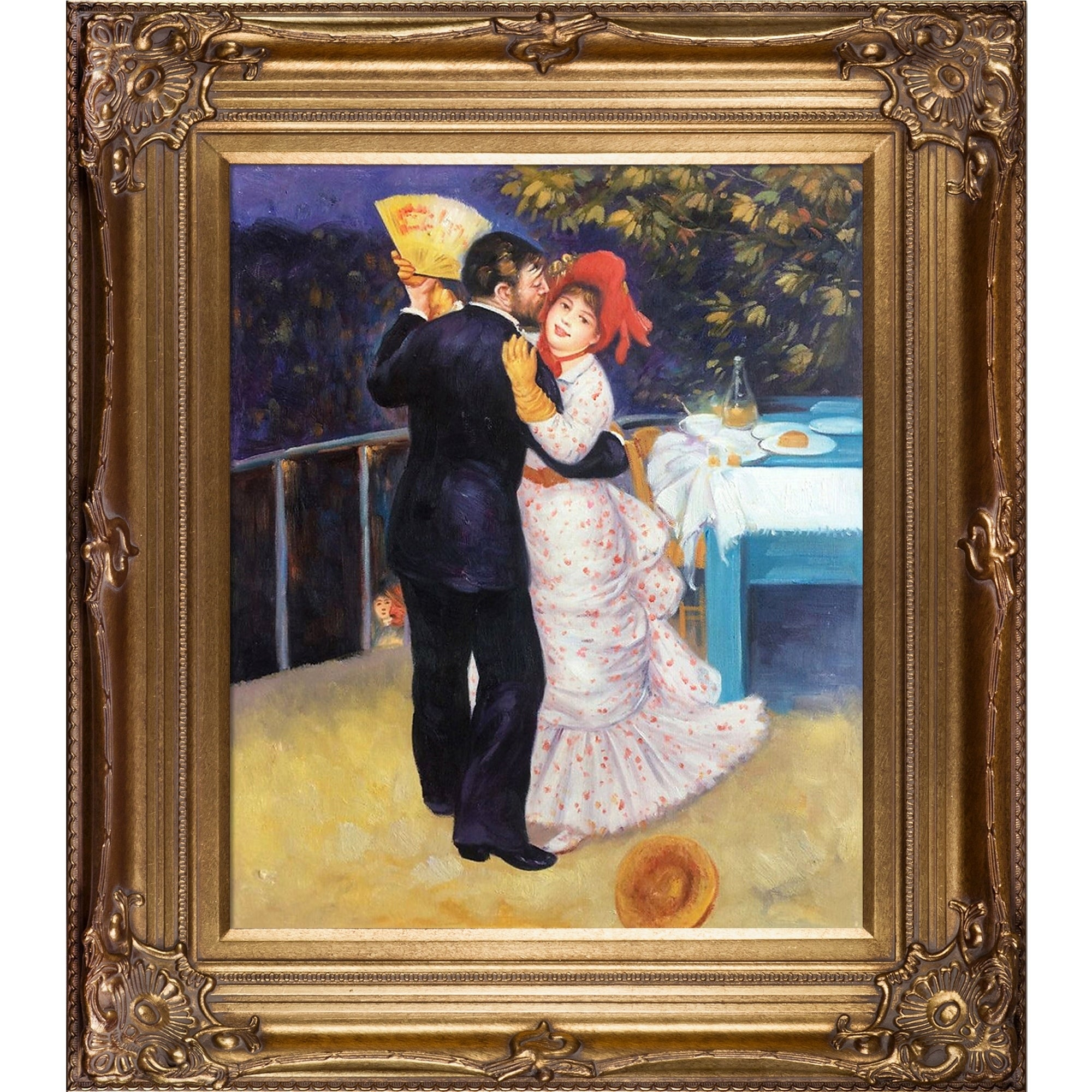 Pierre Auguste Renoir Dance In The Country Hand Painted Framed Oil Reproduction On Canvas Overstock 13129652