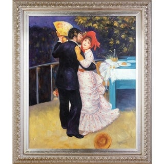 Pierre-Auguste Renoir 'Dance in the Country' Hand Painted Framed Oil Reproduction on Canvas