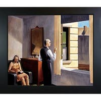 Edward Hopper 'Hotel by the Railroad, 1952' Hand Painted Framed Oil Reproduction on Canvas