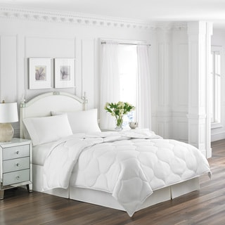 Laura Ashley Microfiber Trellis Quilted Comforter