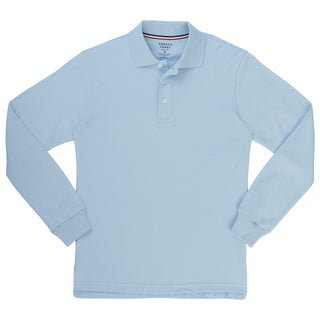 French Toast Boys Interlock Long Sleeve Polo
