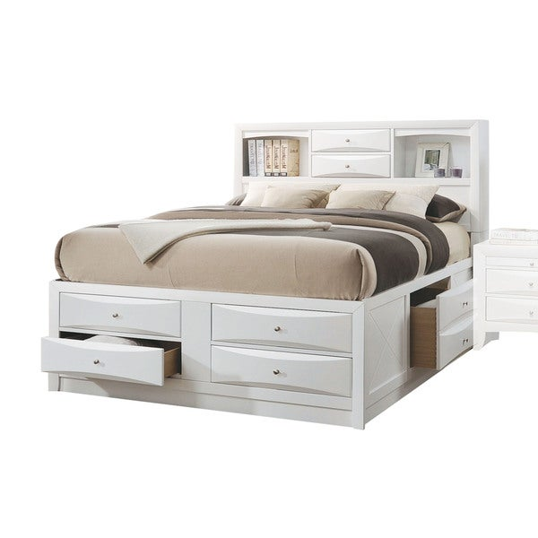 white bed frame with storage shop acme furniture ireland white bed with storage free 20138