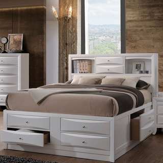 Acme Furniture Ireland Bed with Storage, White