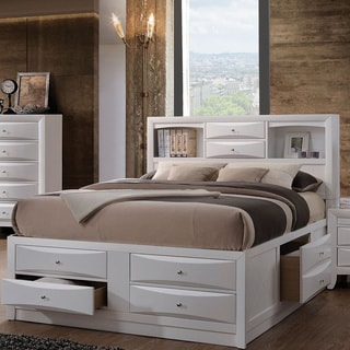 Acme Furniture Ireland Bed with Storage White  sc 1 st  Overstock.com : double platform storage bed  - Aquiesqueretaro.Com