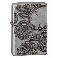 Zippo Skull and Roses Windproof Lighter