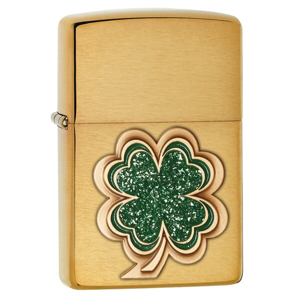 Zippo Shamrock Emblem Windproof Lighter