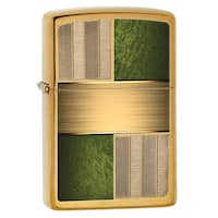 Zippo Green and Brass Windproof Lighter