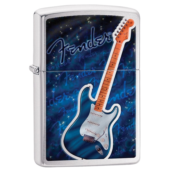 Zippo Fender Guitar and Logo Windproof Lighter