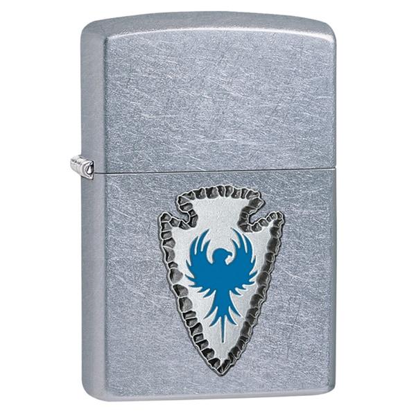 Zippo Blue Arrowhead Emblem Windproof Lighter
