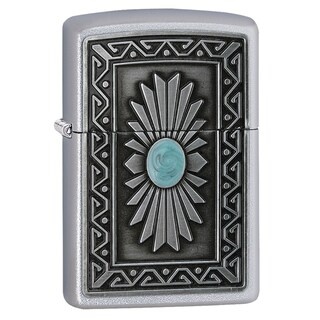 Zippo Turquoise Emblem Windproof Lighter