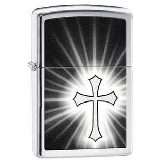 Zippo Black Cross Windproof Lighter