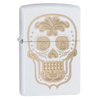 Zippo White Sugar Skull Windproof Lighter