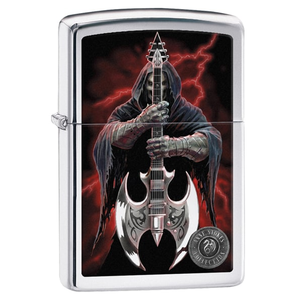 Zippo Anne Stokes Grim Reaper Guitarist Windproof Lighter