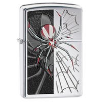 Zippo Red & Black Spider Windproof Lighter
