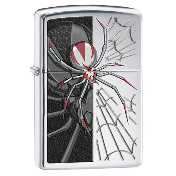 Zippo Red & Black Spider Windproof Lighter