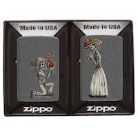 Zippo Sugar Skull Couple Windproof Lighter Gift Set