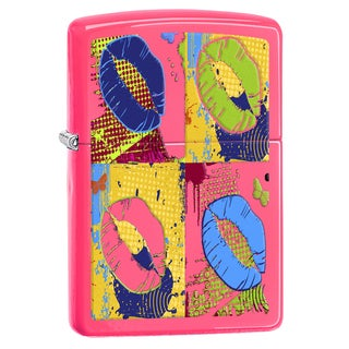 Zippo Lips Pop Art Windproof Lighter (Option: Pink)