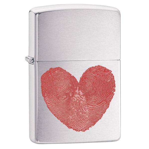 Zippo Fingerprint Heart Windproof Lighter