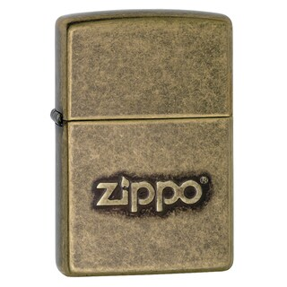 Zippo Stamped Antique Brass Windproof Lighter