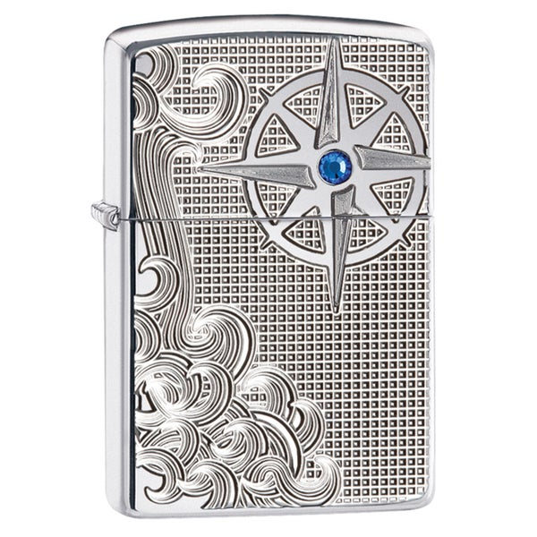 Zippo Waves and Compass Windproof Lighter