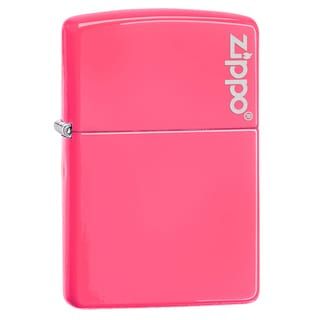 Zippo Neon Pink Logo Windproof Lighter (Option: Pink)